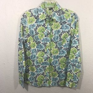 Boden Long Sleeve Floral Cotton Button-Up Shirt
